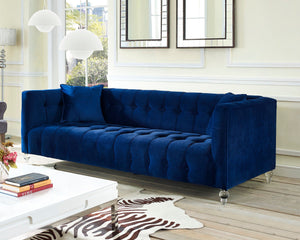 Bria Velvet Tufted Sofa in 4 Color Options