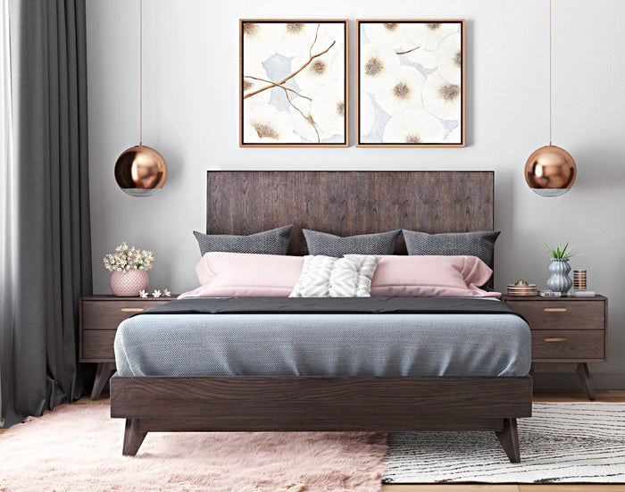 Lottie Mid Century Platform Bedroom Collection