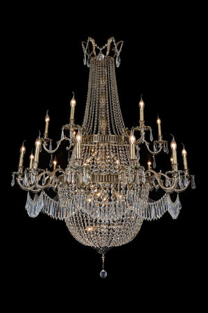Summer Palace Antique Brass Chandelier in 3 Sizes