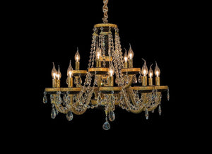 Imperial Gold Chandelier in 2 Sizes