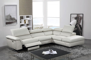 Maia Grey Reclining Eco-Leather Sectional in 2 Color Options