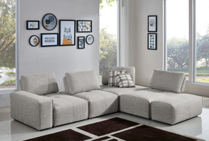 Plato Modular Fabric Sectional with Moveable Backrests