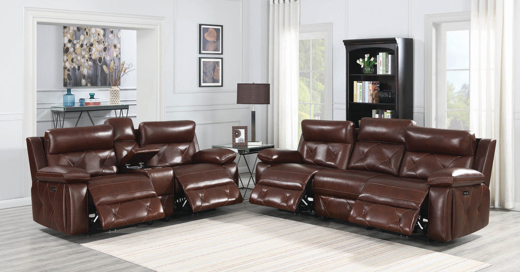 Charles Power Reclining Leather Living Room Collection