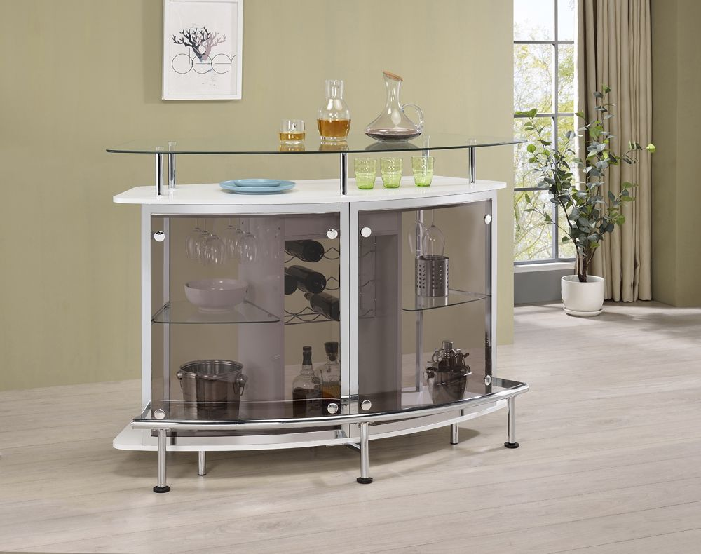 Crescent Shaped Bar Unit in 2 Finishes
