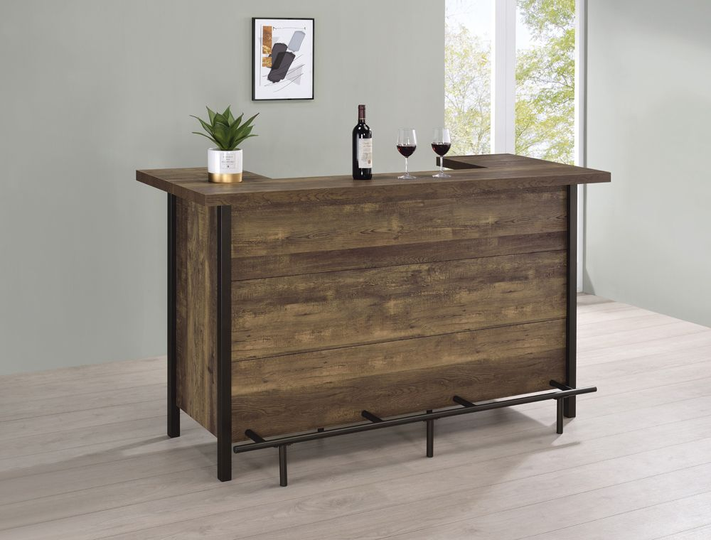 Rustic Oak Bar Unit