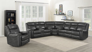Shelia Power Reclining Leather Sectional