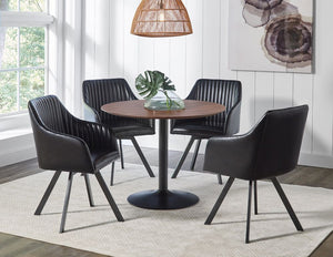 Carlos Round Walnut Dining Room Collection