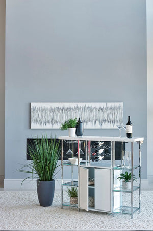 Contemporary White Gloss Bar Unit