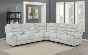 Jared Power Reclining Leather Sectional