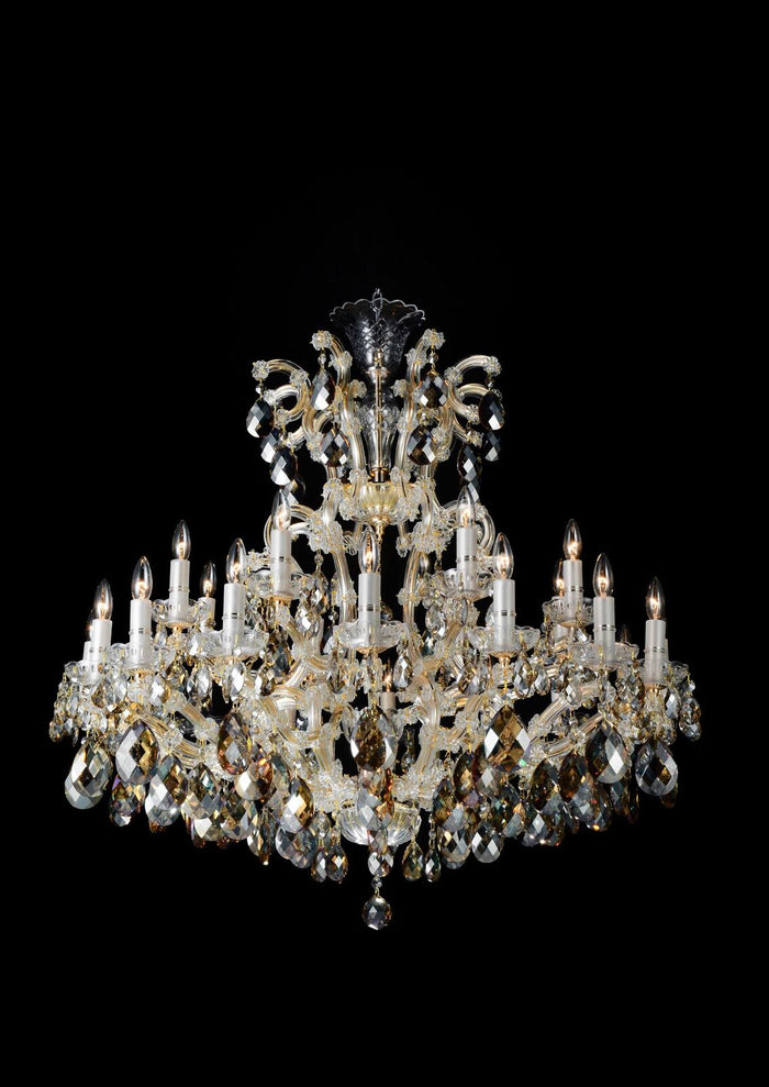 La Scala Cognac Chandelier in 2 Sizes