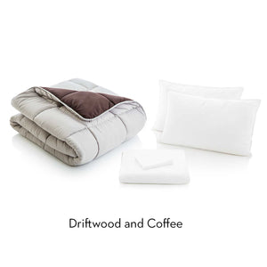 Reversible Bed in a Bag in Driftwood & Coffee
