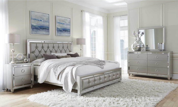 Oscar Silver Contemporary Bedroom Collection