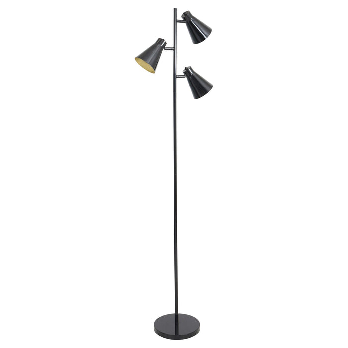 Trevor Retro Black Floor Lamp