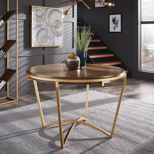 Round Natural Wood Dining Room Collection