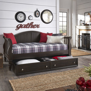 Traditional Slatted Day Bed with Option Trundle in 3 Color Options