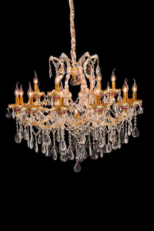 Chantilly Gold Chandelier in 2 Sizes