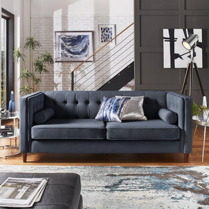 Tufted Mid Century Living Room Collection in 3 Color Options