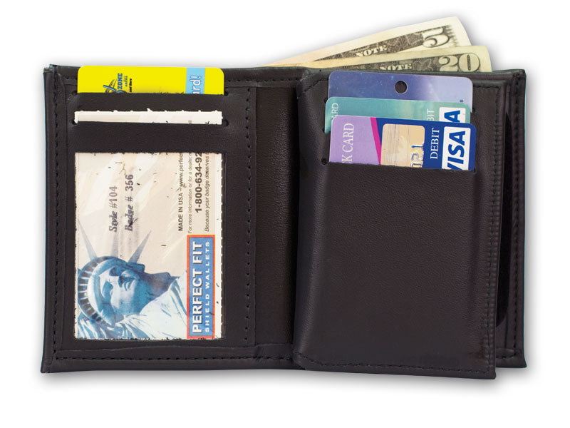 Perfect Fit Badge Bi Fold Wallet with Credit Card