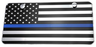 US FLAG BLUE LINE LICENSE PLATE - Red Diamond Uniform & Police Supply