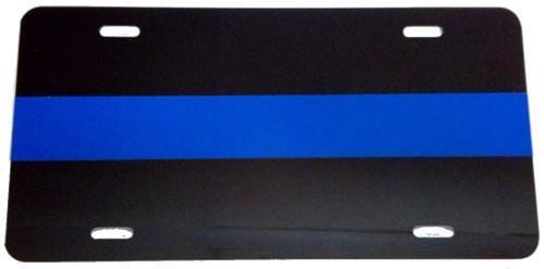 BLUE LINE LICENSE PLATE - Red Diamond Uniform & Police Supply