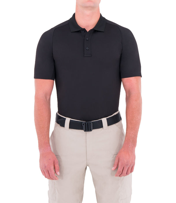 First Tactical Mens Performance Short Sleeve Polo - Red Diamond Uniform & Police Supply