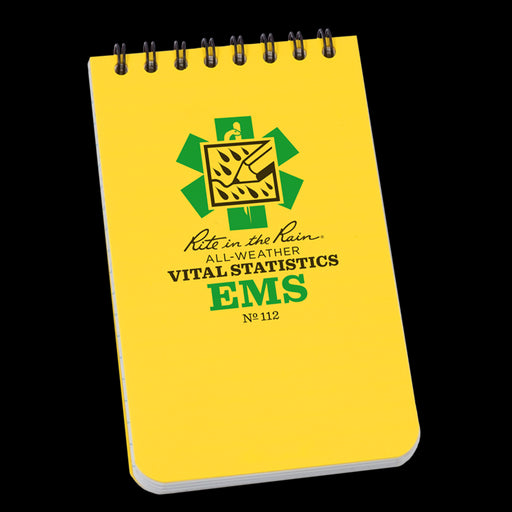 "Rite In The Rain 3""x5"" EMS POCKET NOTEBOOK - Red Diamond Uniform & Police Supply"