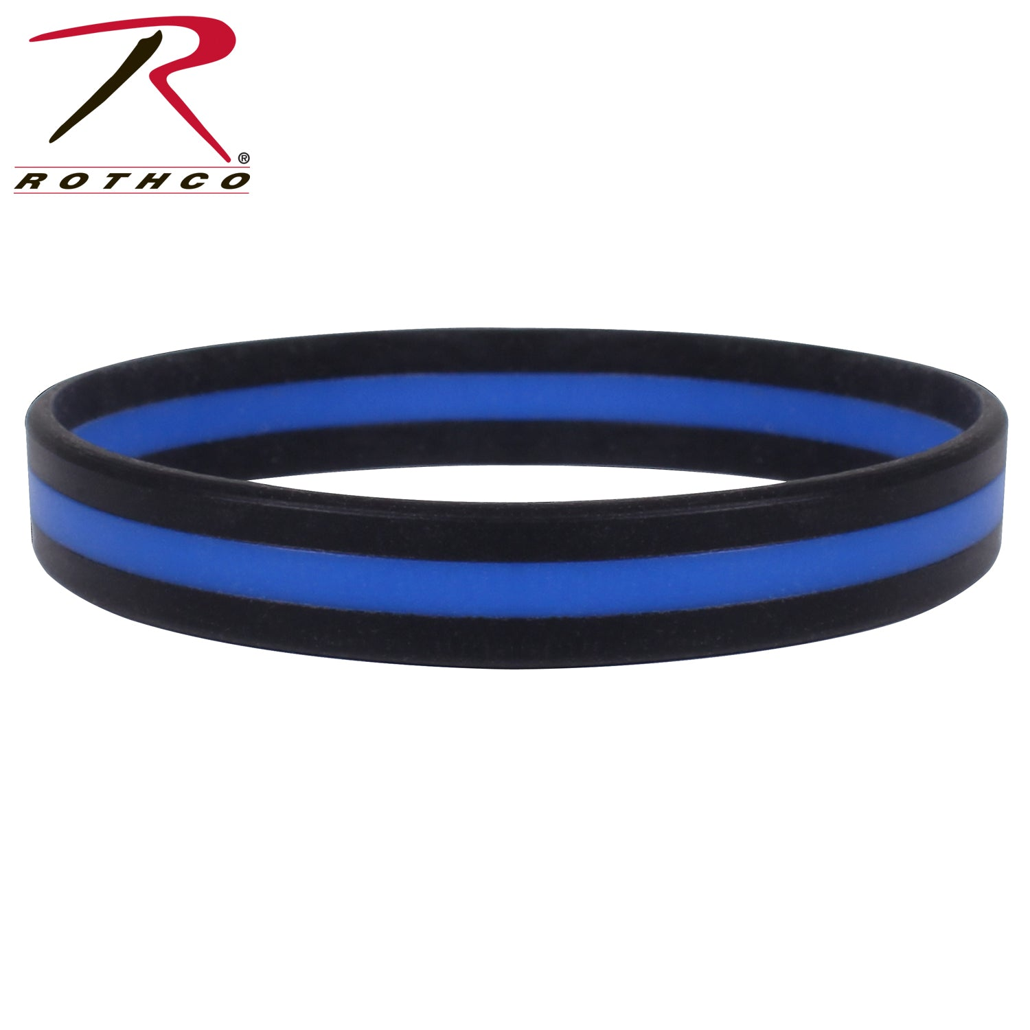 Rothco Silicone Thin Blue Line Bracelet - red-diamond-uniform-police-supply