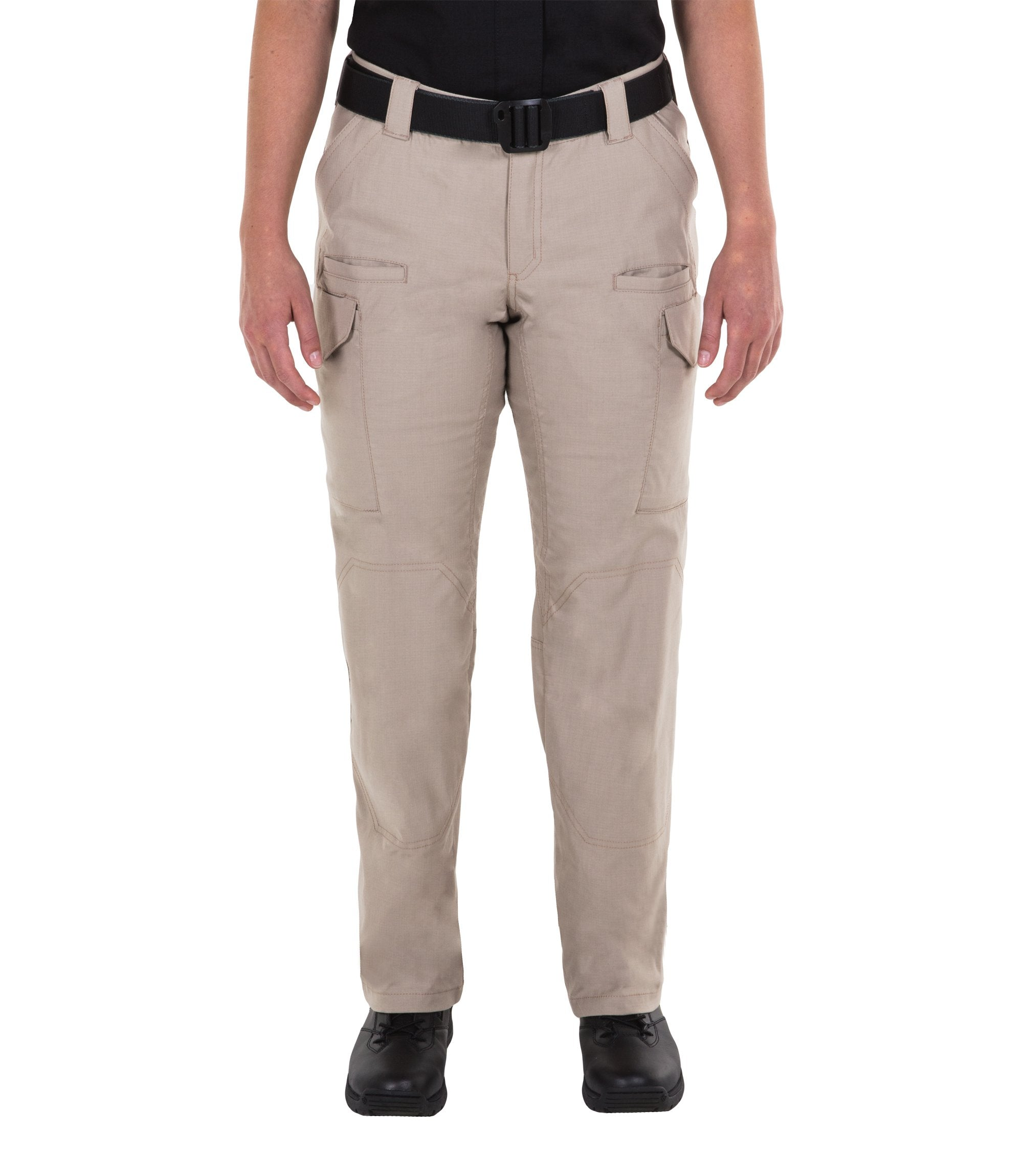 First Tactical Women's V2 Tactical Pants - Black & Khaki - red-diamond-uniform-police-supply