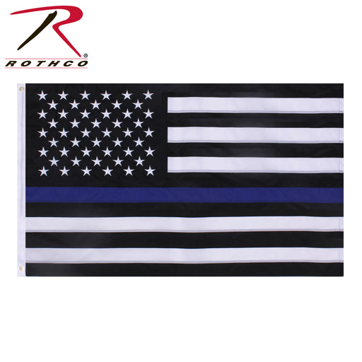 Rothco Deluxe Thin Blue Line Flag 3x5 - Red Diamond Uniform & Police Supply