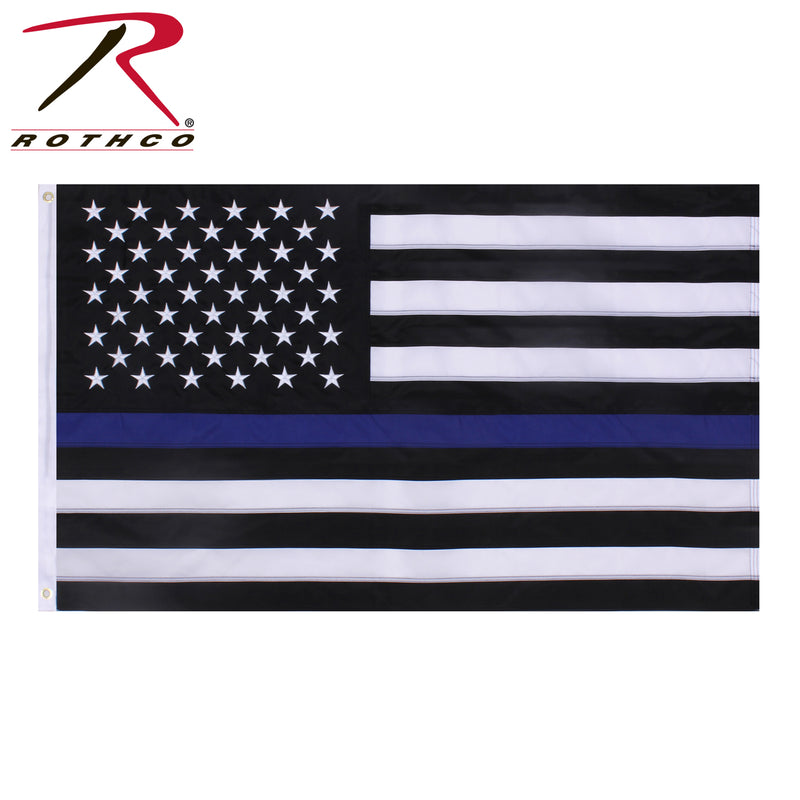 Rothco Deluxe Thin Blue Line Flag 3x5