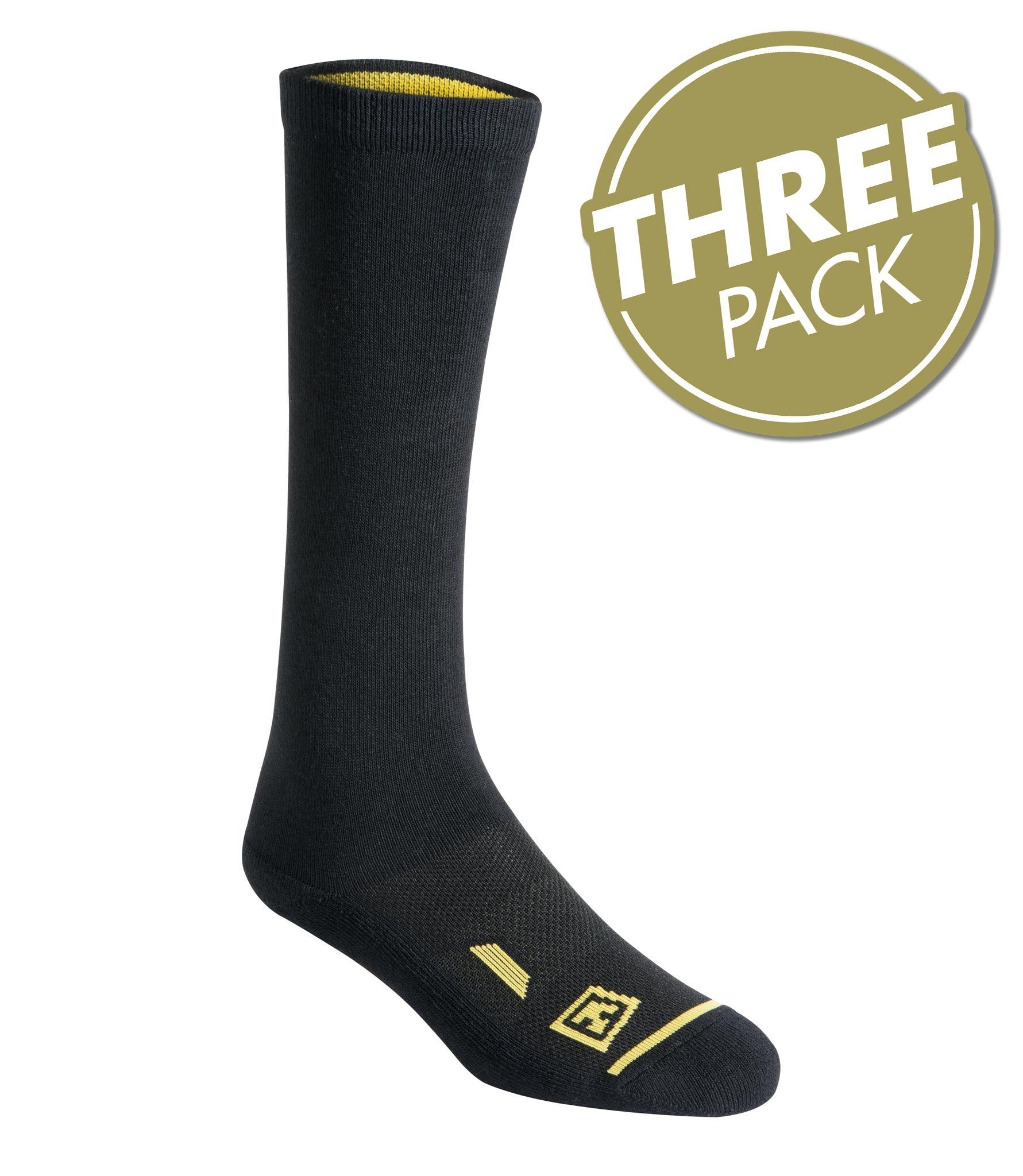 "First Tactical Cotton 9"" Duty Socks 3-Pack"