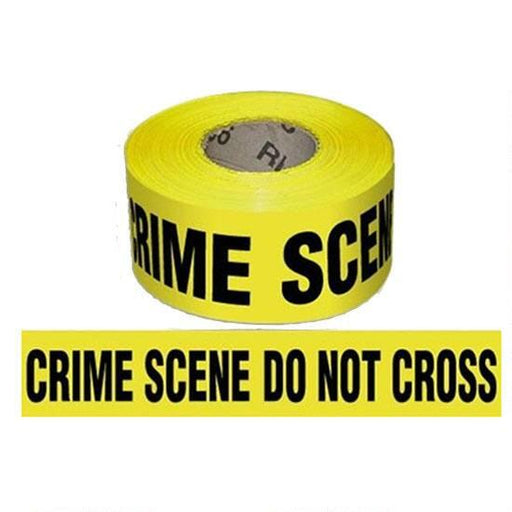 "Pro-Line Barricade Tape 1000' ""Crime Scene"" Tape 3"" Width BT02 - Red Diamond Uniform & Police Supply"