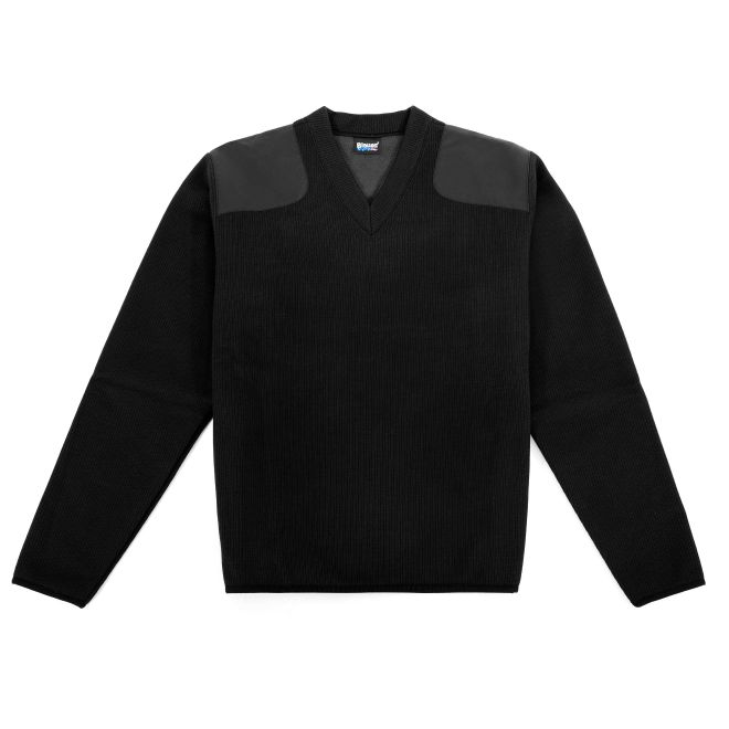 Blauer FLEECE-LINED V-NECK SWEATER