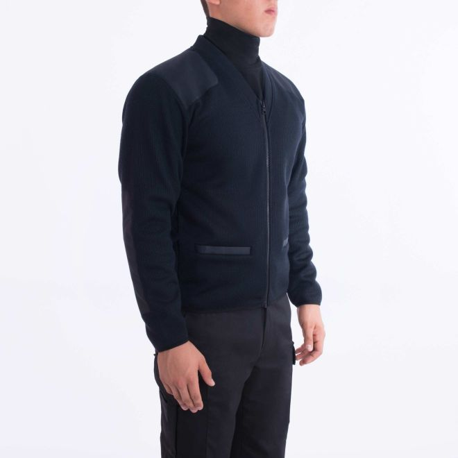 Blauer FLEECE-LINED ZIP FRONT SWEATER