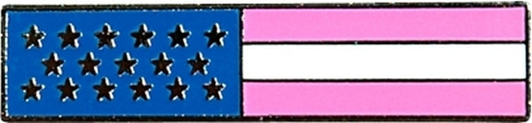 Pink American Flag Pin - Breast Cancer Awareness