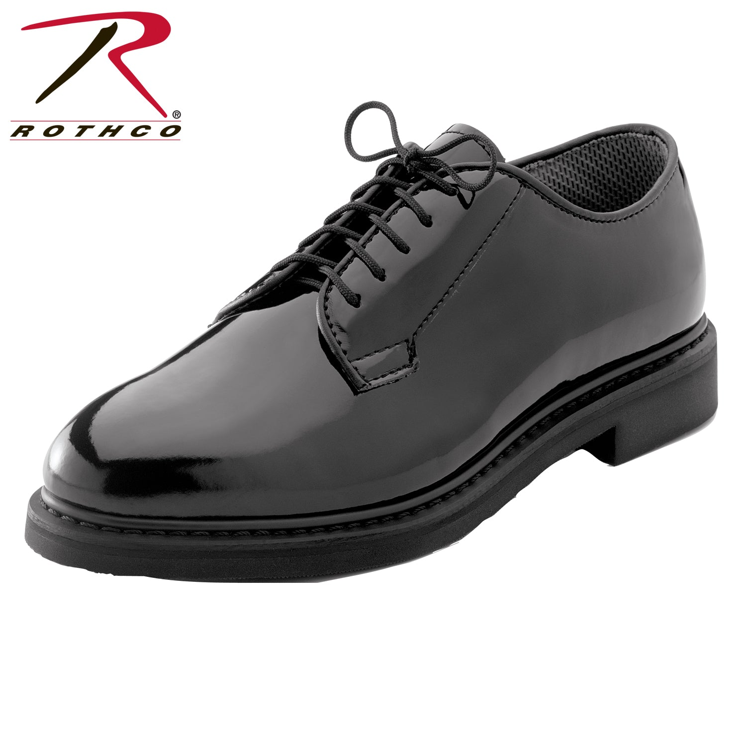 Rothco Uniform Hi-Gloss Oxford Dress Shoe - red-diamond-uniform-police-supply