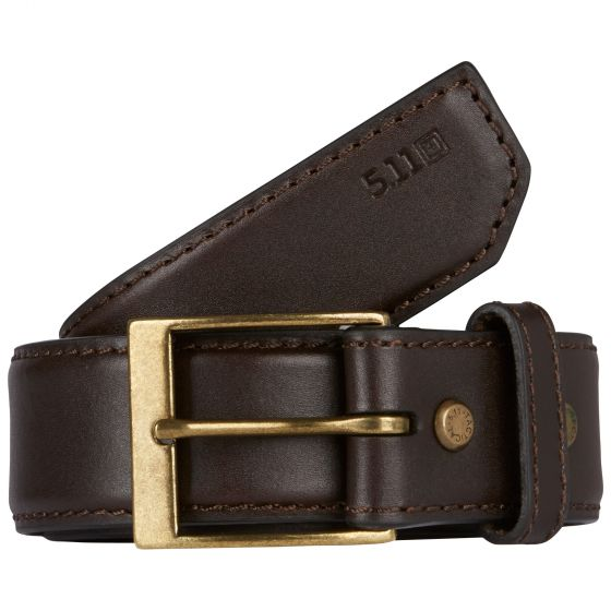 "5.11 Tactical 1.5"" Casual Leather Belt - Red Diamond Uniform & Police Supply"