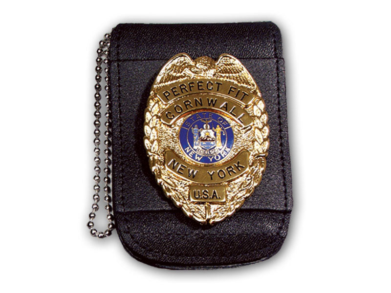 "Universal Badge & ID Holder w/ Magnetic Closure & 30"" Beaded Chain"