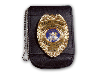 "Universal Badge & ID Holder w/ Magnetic Closure & 30"" Beaded Chain - red-diamond-uniform-police-supply"