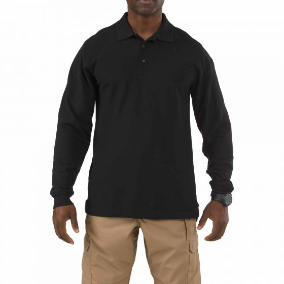 5.11 Tactical Utility Long Sleeve Polo - red-diamond-uniform-police-supply