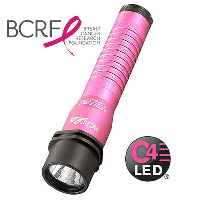 Streamlight Pink Strion Flashlight with AC/DC Charger - red-diamond-uniform-police-supply