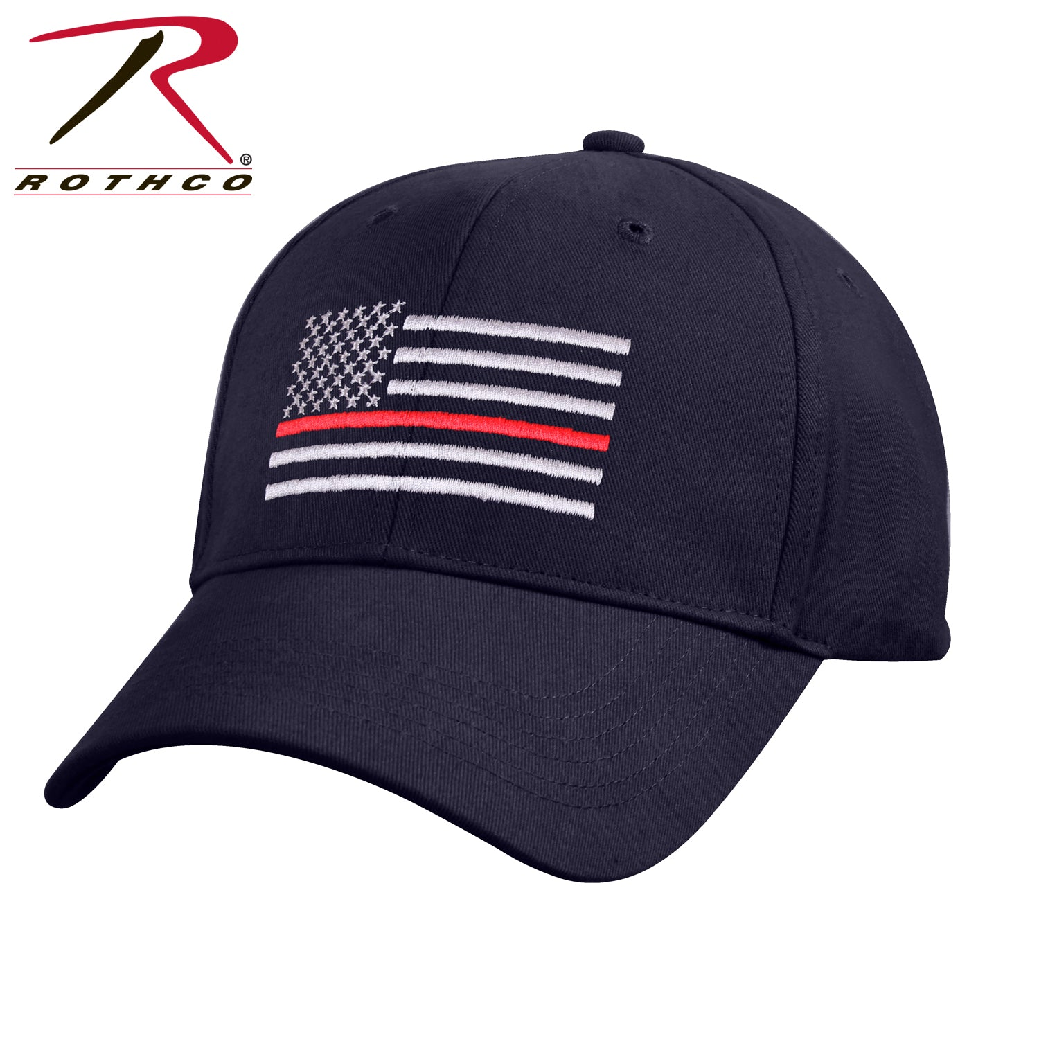 Rothco Thin Red Line Flag Low Profile Cap - red-diamond-uniform-police-supply