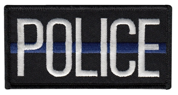 Heros Pride Police Blue Line Patch W/ Velcro - red-diamond-uniform-police-supply
