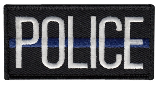 Heros Pride Police Blue Line Patch W/ Velcro - Red Diamond Uniform & Police Supply
