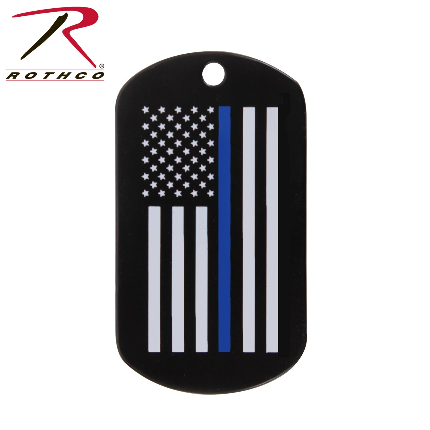 Rothco Thin Blue Line Dog Tag - red-diamond-uniform-police-supply