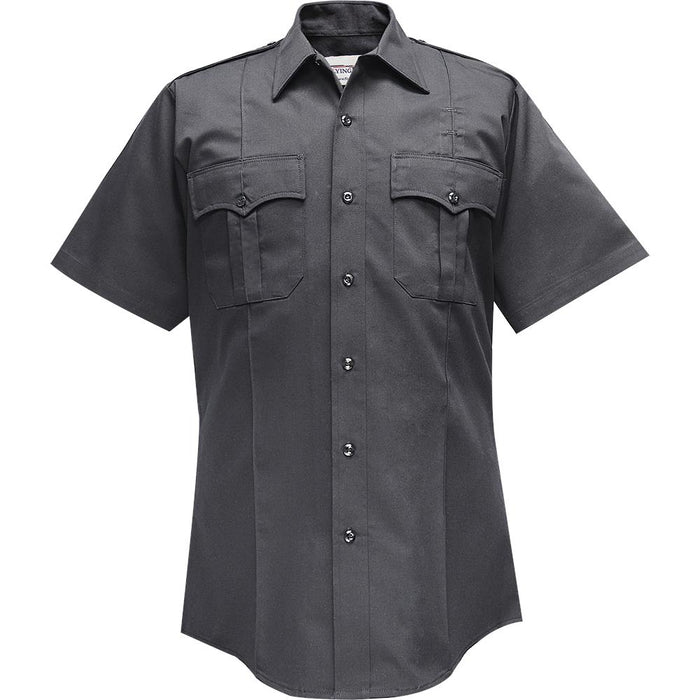 Flying Cross Command 100% Polyester S/S Shirt W/Zipper  -85R78Z - Red Diamond Uniform & Police Supply