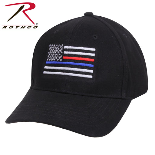 Rothco Thin Blue Line & Red Line Low Profile Flag Cap - Red Diamond Uniform & Police Supply