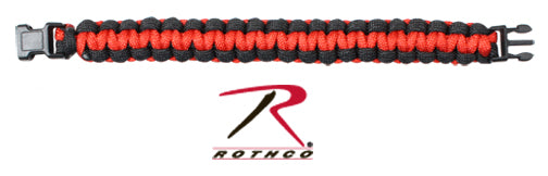 Rothco Thin Red Line Paracord Bracelet - Red Diamond Uniform & Police Supply