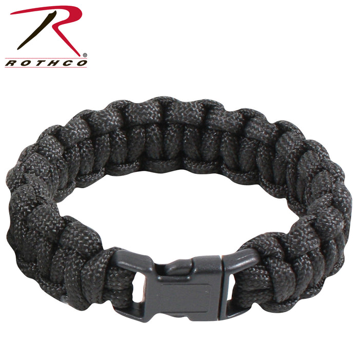 Rothco Solid Color Paracord Bracelet - Red Diamond Uniform & Police Supply