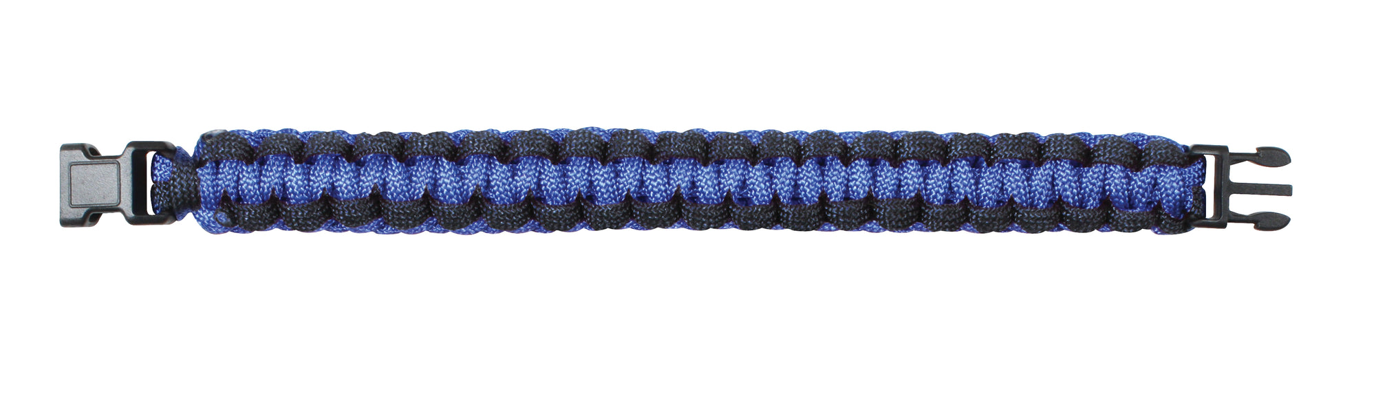 Rothco Thin Blue Line Paracord Bracelet - Red Diamond Uniform & Police Supply